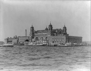 Ellis Island's Immigrant Landing Station, February 24, 1905 (Library of Congress via the American Heritage website).